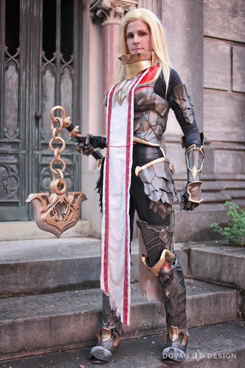 Sam posing for 2015 photoshoot with Dim Horizon wearing the original Armor of Akkhan cosplay. No pauldrons pictured as they did not stay on properly at this time.
