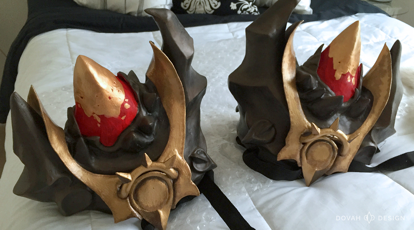 Pauldrons of Akkhan cosplay pieces