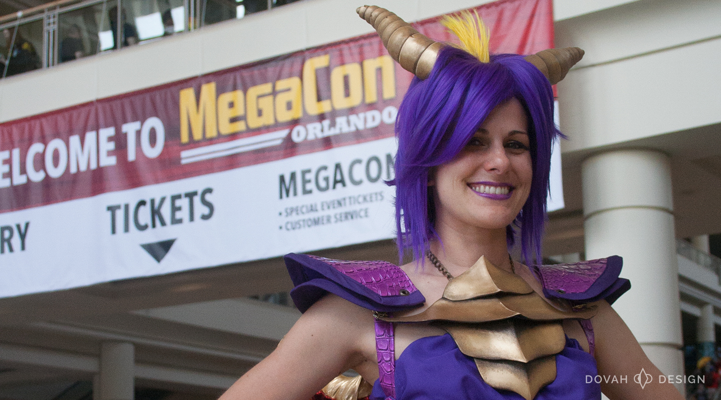 Spyro the Dragon cosplay at MegaCon Orlando 2016