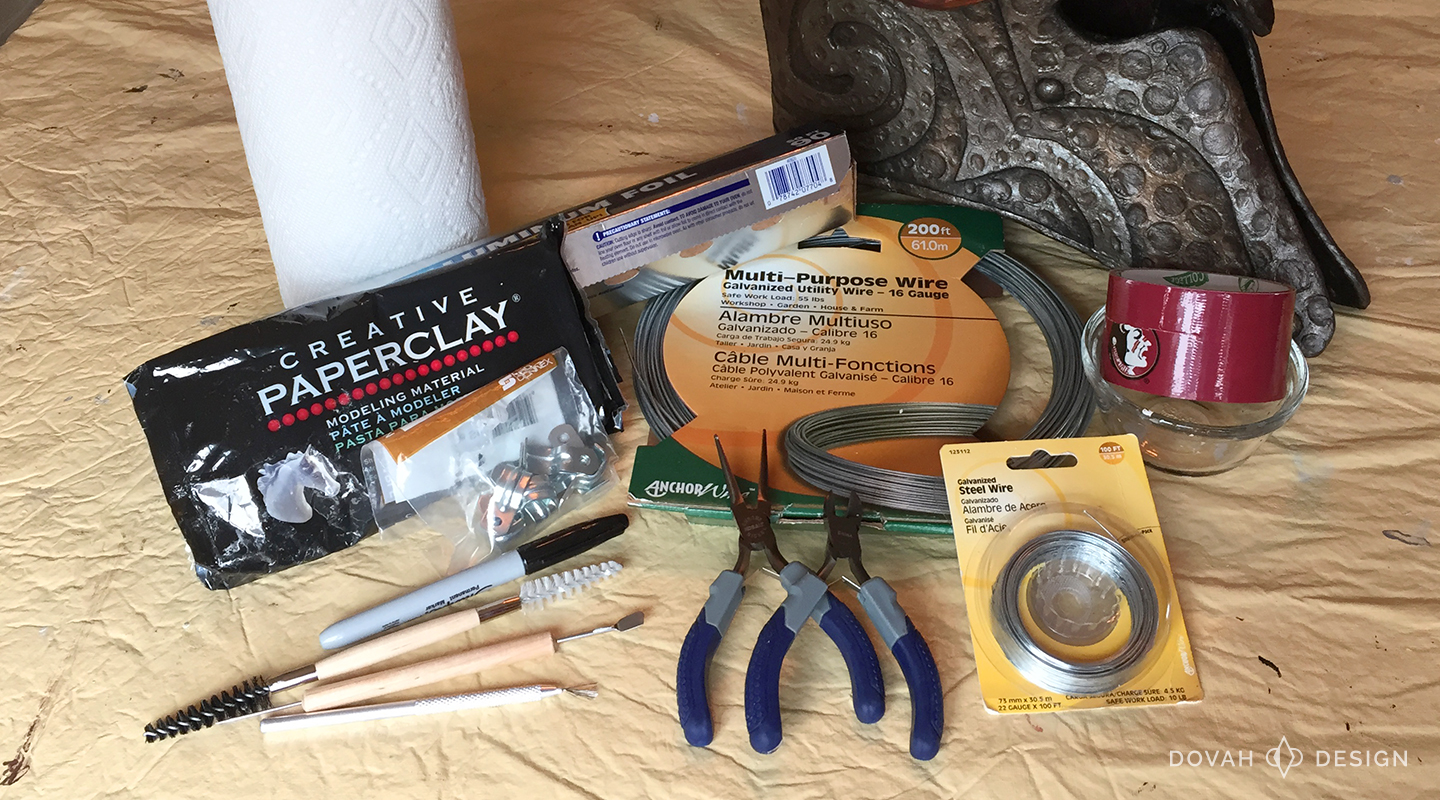 Materials for making custom antlers for cosplay