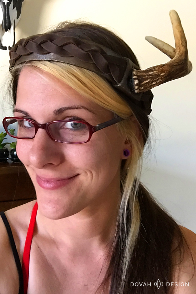Wearing my final Dark Souls 3 Pyromancer Crown